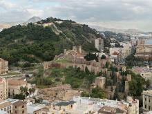 Vista aérea del teatro bajo la Alcazaba