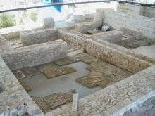 Sala con mosaicos