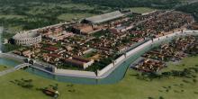 Recreación 3D de la ciudad