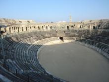 Vista interior de la arena
